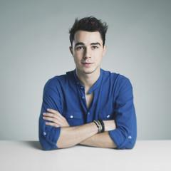 Studio portraits: Handsome young man