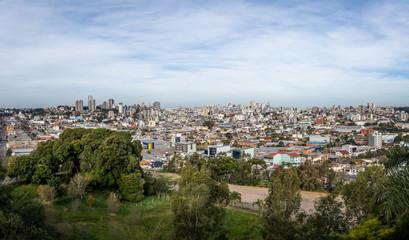 Panoramic Aerial view of Caxias do Sul City - Caxias do Sul, Rio Grande do Sul, Brazil