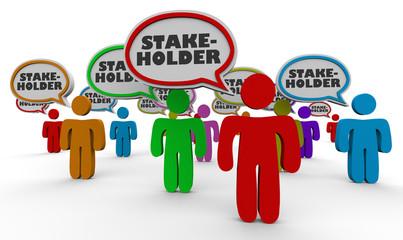 Stakeholders People Speech Bubbles Members 3d Illustration