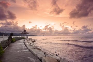 Boardwalk Gazebo on a Jamaican Coastline