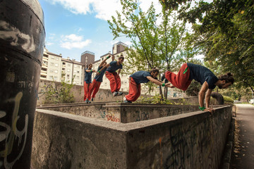 Practising Parkour in the City