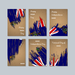 SGSSI Patriotic Cards for National Day. Expressive Brush Stroke in National Flag Colors on kraft paper background. SGSSI Patriotic Vector Greeting Card.