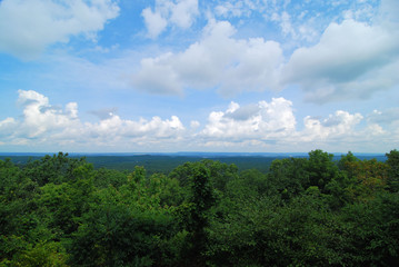 Oak Mountain View / View from Oak Mountain State Park near Birmingham, Alabama