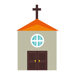 church icon over white background vector illustration