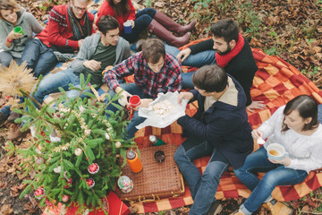 Friends During Christmas Picnic