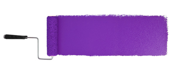 Paint Roller With Logn Purple Stroke