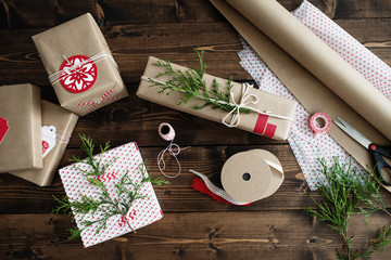 Holiday Gift Wrap Background