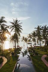 Pool in Tropical Beach Resort