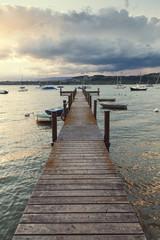 Wooden Dock in a Swiss Lake