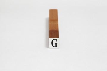 アルファベットのゴム印