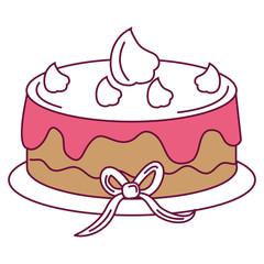 delicious cake celebration icon vector illustration design