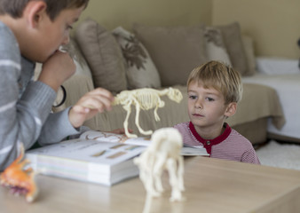 Children learning at home