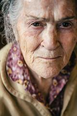 Old senior woman portrait