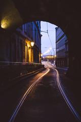 Railway in the street - Prague