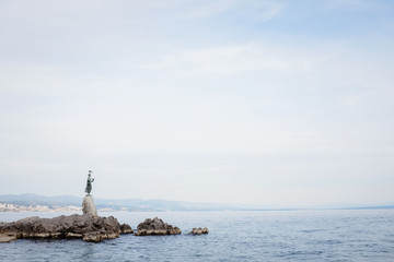 Maiden with the Seagull Statue at Opatija, Croatia.