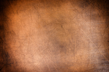 old metal plate, brushed texture copper, bronze background