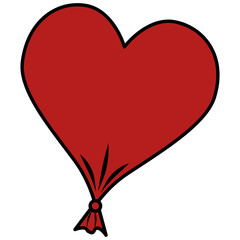 heart love balloon air vector illustration design