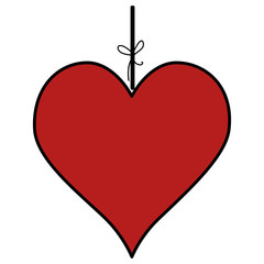 heart love hanging icon vector illustration design