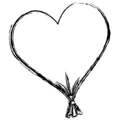 heart love balloon air vector illustration design