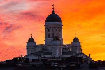 Helsinki Cathedral, Finland, Sunset