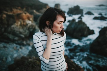 Girl on a Sea Cliff