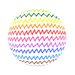 Abstract colorful zigzag lines shape