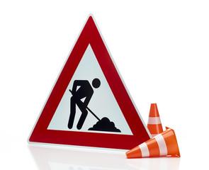 Baustellen Warnschild