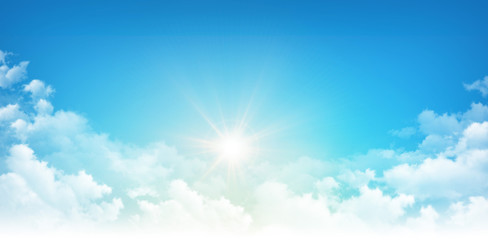 Sunshine through white clouds
