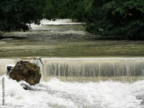 Wasserfall Im Englischen Garten Stockfotos Und Lizenzfreie Bilder