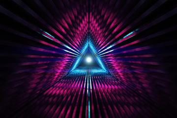 Triangular tunnel background