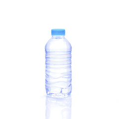 bottle water isolated on white background
