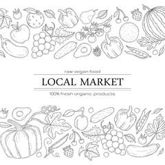 Organic food design template.
