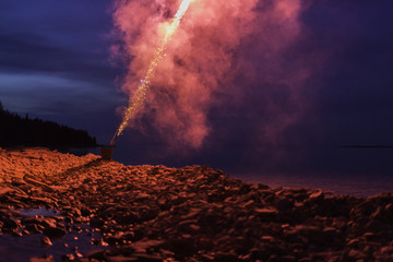 Firecracker Celebration at the Beach