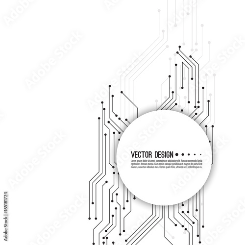 Abstract Background With High Tech Circuit Board Texture Vector