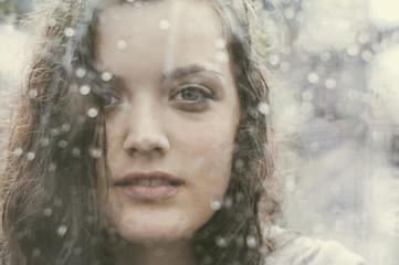 Rain portrait
