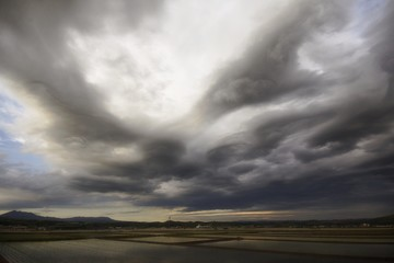 Turbulent Clouds Over Matsuo Japan