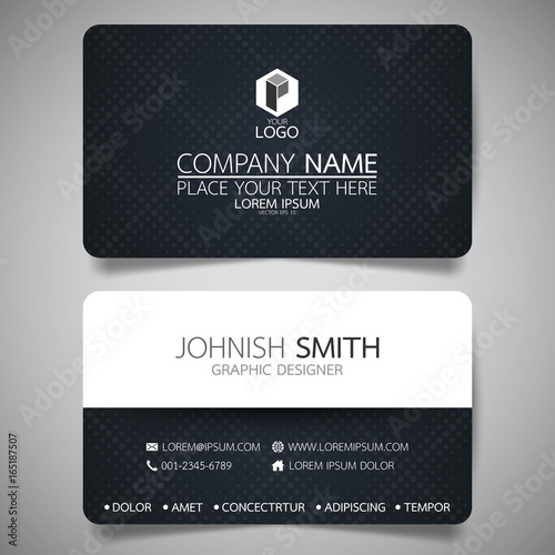 black modern creative business card and name cardhorizontal