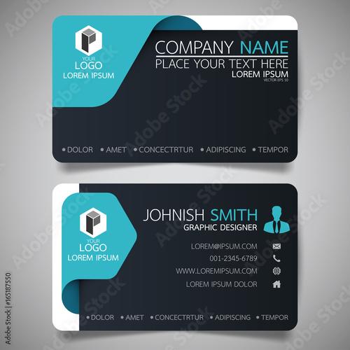 blue modern creative business card and name card horizontal simple
