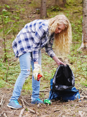 Spring cleaning forest protection