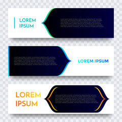 Abstract geometric web banner vector gradient template