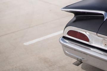 Closeup of 60s car tail light