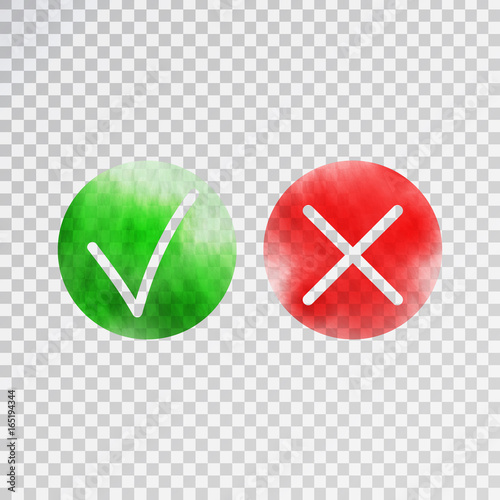 quotvector isolated tick and cross check marks on the
