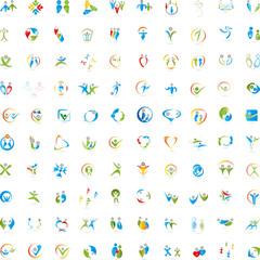 Menschen Logos Sammlung, Große Sammlung, Person in Bewegung