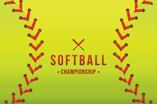 Vector of softball background.
