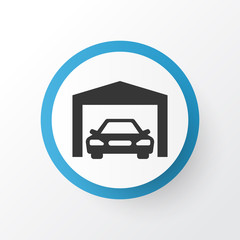 Garage Icon Symbol. Premium Quality Isolated Repairing Element In Trendy Style.