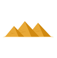 Egypt pyramids icon. Egypt pyramids isolated on white background. Vector stock.