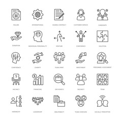 Project Management Line Vector Icons 3