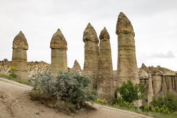 Die Feenkamine im Love Valley, Kappadokien, Türkei