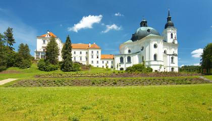 Church in town of Krtiny, Czech Republic