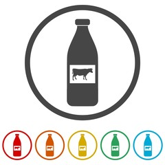 The milk icons set - Illustration